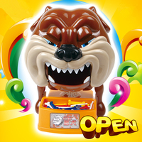 2017 new Funny Toy Stealing Dog Bone Best Tricky Toy Play With Kids Family game Shocker Joke Gift For Children Fun Games