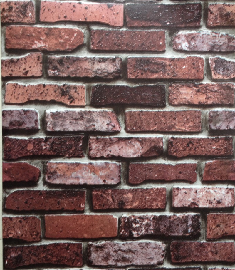 Aliexpresscom Buy 3d stone design wall paper brick design pvc