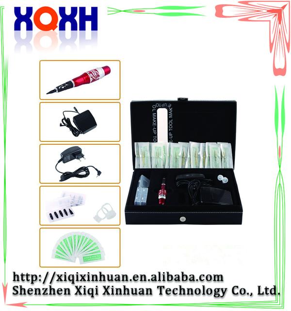 Al por mayor kits de rotulador permanente, tatuaje de cejas pen set, máquina digital maquillaje permanente kit