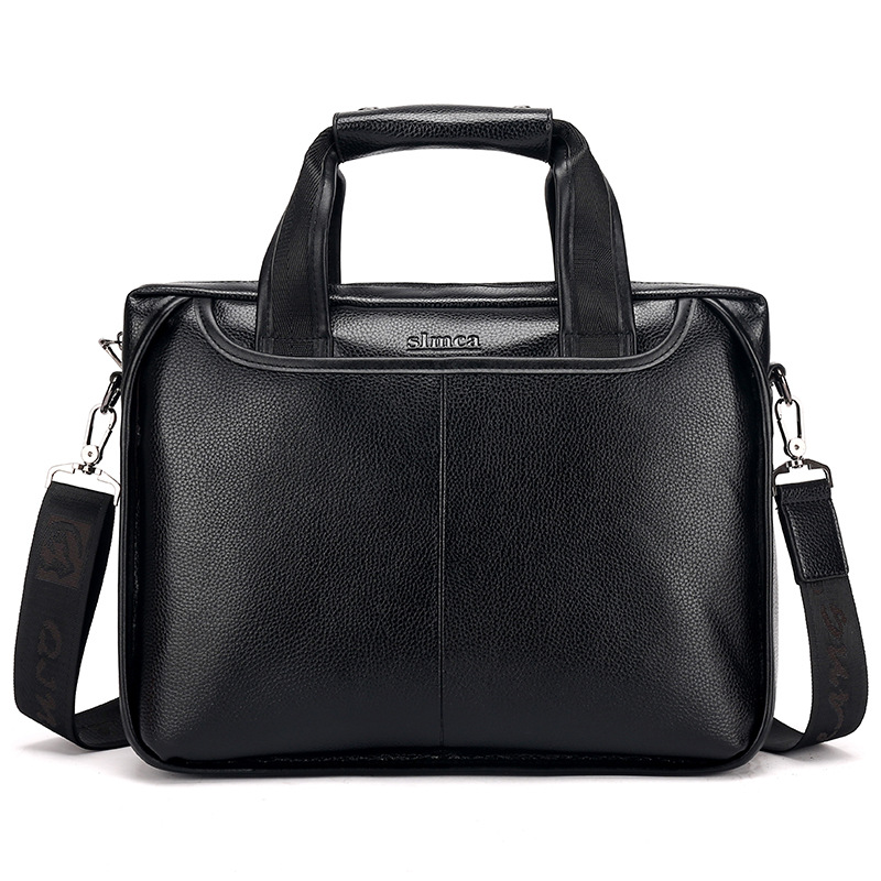 Men's Briefcase Tote Computer-Bag Business 14-Inch Casual Luxury New Boy Male Fashion