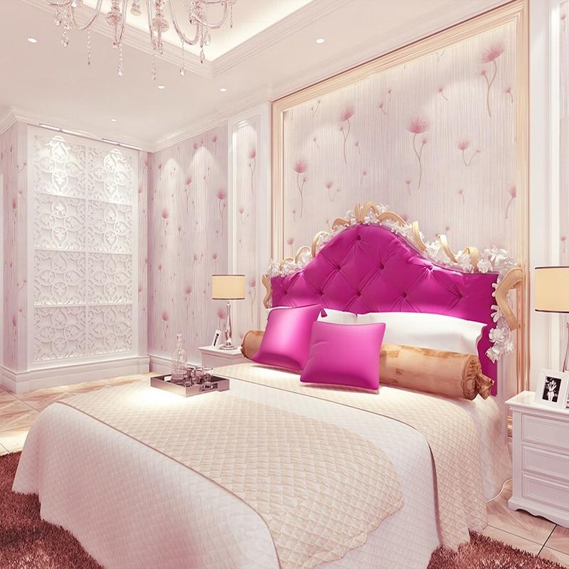 pink floral wallpaper roll 3d wallpaper walls non woven