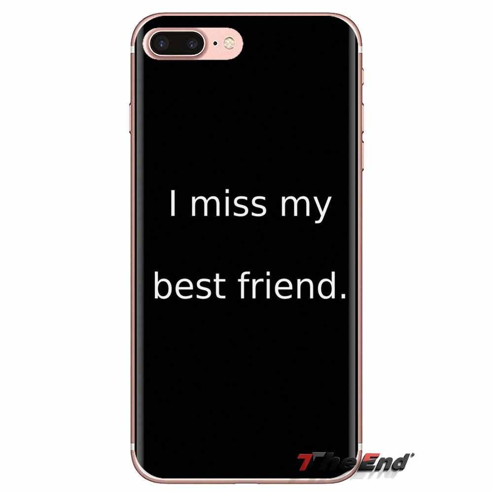 Para Xiaomi Redmi 4A S2 Nota 3 4 4X5 3S Plus 6 7 6A Pro Pocophone F1 tampa Transparente macio Saco de Best Friends Forever BFF Padrão