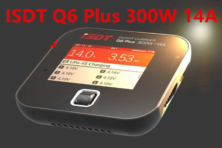 1PCS ISDT Q6 Plus 300W 14A Q6 lite 200W 8A Pocket Battery Balance Charger for RC Quadcopter LiFe/Lilon/LiPo/LiHv (1-6S) Charging wholesale 1pcs aok bc168 1 6s 8a 200w super speed lcd intellective balance charger discharger rc helicopter part