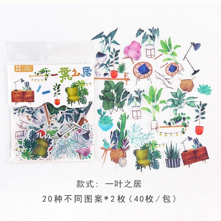 Mohamm кошка цветок дневник деко мини бумага декоративный космический календарь милые наклейки Скрапбукинг журнал хлопья канцелярские товары - Цвет: L
