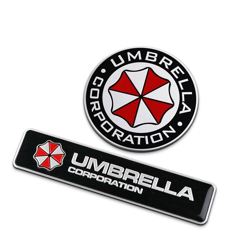 Car Stickers Original Umbrella Evil Resident Design Auto Badge Emblem,car Styling Refit 3d Metal Sticker,aluminium Alloy Decals For Kia Rio/lada