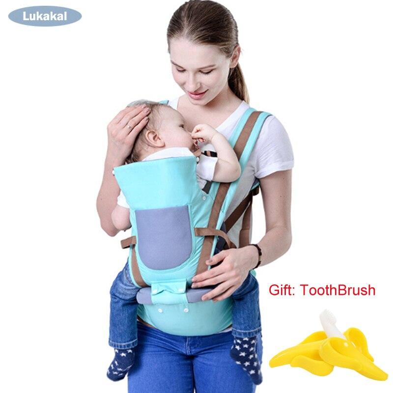 Nuevo diseño transpirable bebé 0-36 m frontal bebé Kangarro cara a cara bebé mochila del abrigo de bebé honda