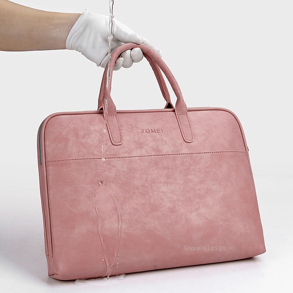 Модный ПУ водонепроницаемый устойчивый к царапинам портфель для ноутбука 13 14 15 дюймов Сумка для ноутбука сумка для переноски для женщин и м...