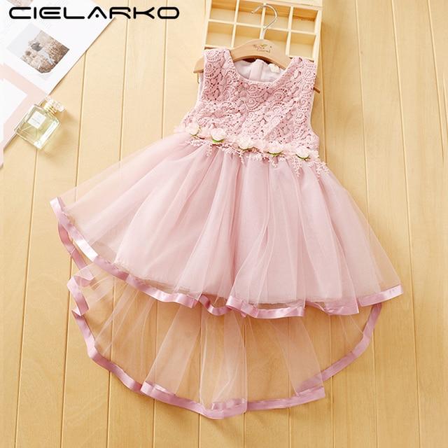 a8ba70a4f557 Cielarko Girls Flower Dress Tulle Lace Wedding Princess Dresses ...