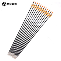 6 12 24pc 31 Inches Spine 700 With Orange Feather Fiberglass Arrow For Recurve Bow Arrow