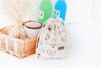 100 cái Cat Trang Sức Bao Bì Wedding Gift Pouch Túi Xách Dây Kéo Vải Linen Vải Giáng Sinh Party Favor Túi Quà Tặng & Túi