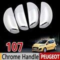 Набор хромированных насадок на ручки для Peugeot 107 2005 2006 2007 2008 2009 2010 2011 2013 2014 автомобильные аксессуары наклейки для стайлинга автомобиля