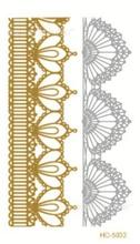 Metalic Tatoos Gold Metallic Temporary Flash Tattoos Sex Products Henna Metal Bling Tatouage Body Paint Stickers HC-5033