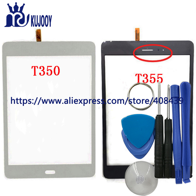 Original T350 T355 Touch Panel For Samsung Galaxy Tab A 8.0 SM-T350 T350 T355 Touch Screen Digitizer With Tools