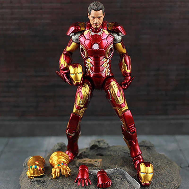 18 cm Original Marvel Select Vingadores Super Herói Homem De Ferro Ironman Mark 45 Action Figure Modelo Boneca Brinquedos de Presente de Natal