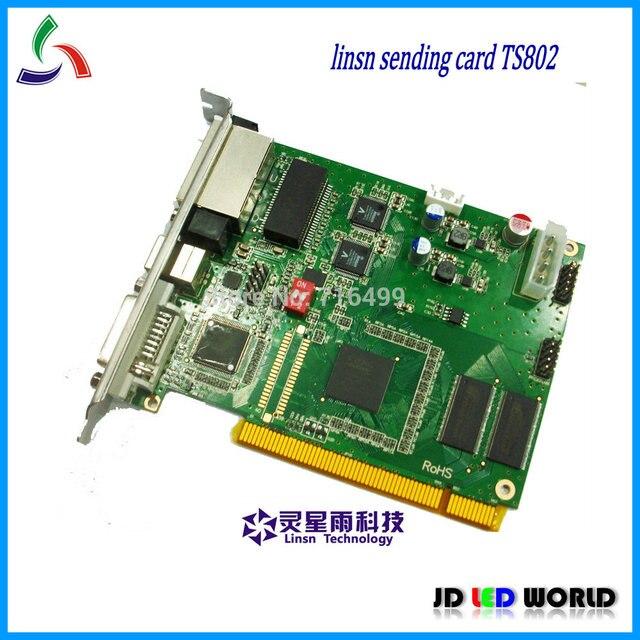 TS802 كامل اللون شاشة فيديو ليد جهاز تحكم بالشاشة إرسال بطاقة (Linsn TS802 إرسال بطاقة)