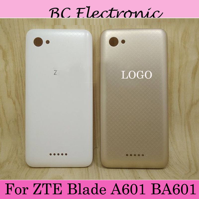Repairment <font><b>battery</b></font> back case door cover Gold White For <font><b>ZTE</b></font> <font><b>Blade</b></font> <font><b>A601</b></font> BA601 A 601 BA 601 image