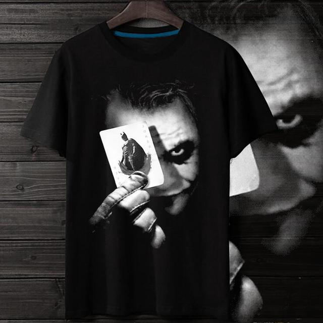 Fashion Summer Batman The Dark Knight Joker T Shirt O-neck Men T-shirt Cosplay Costume Shirts Size S-xxxl