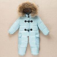 Russian newborn winter baby clothes snowsuit 90% duck down jacket for girl coat parka infant boy snow suit wear outwear jumpsuit