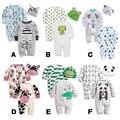 2015 autumn infant romper fashion romper baby set cartoon 100% cotton jumpsuit piece set