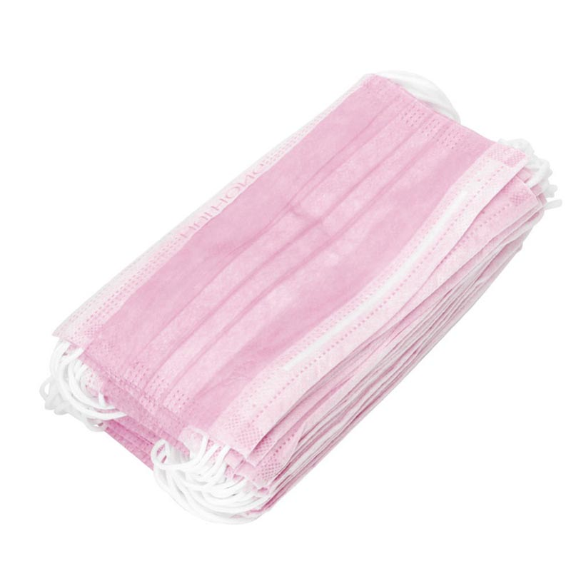 50pcs Disposable Earloop Face Mouth Masks 3 Layers Anti-Dust For Surgical Medical Salon JS88