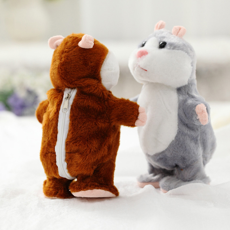 Wallfire Talking Hamster Mouse Pet Plush Kids Toy Hot Cute Speak Talking Sound Record Hamster Educational Toy for Children Gift
