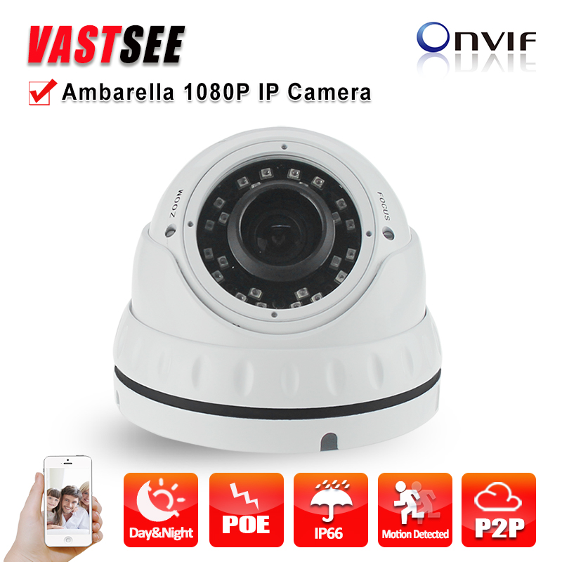 ФОТО Camera IP POE 2MP full HD 1080P Onvif Ambarella indoor room Dome 2.8-12mm Varifocal lens 36IR camera for surveillance