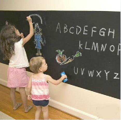Eco-friendly dull blackboard stickers household child doodle blackboard doodle board