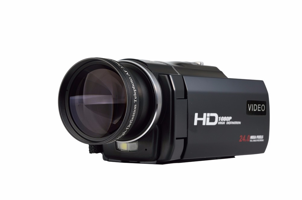 """Marvie 1080p 30fps filmadora Video Recorder 24MP 16X Anti-shake Macro Portable Camcorder 3"""" Touch Screen HDMI out Video Camera 2"""