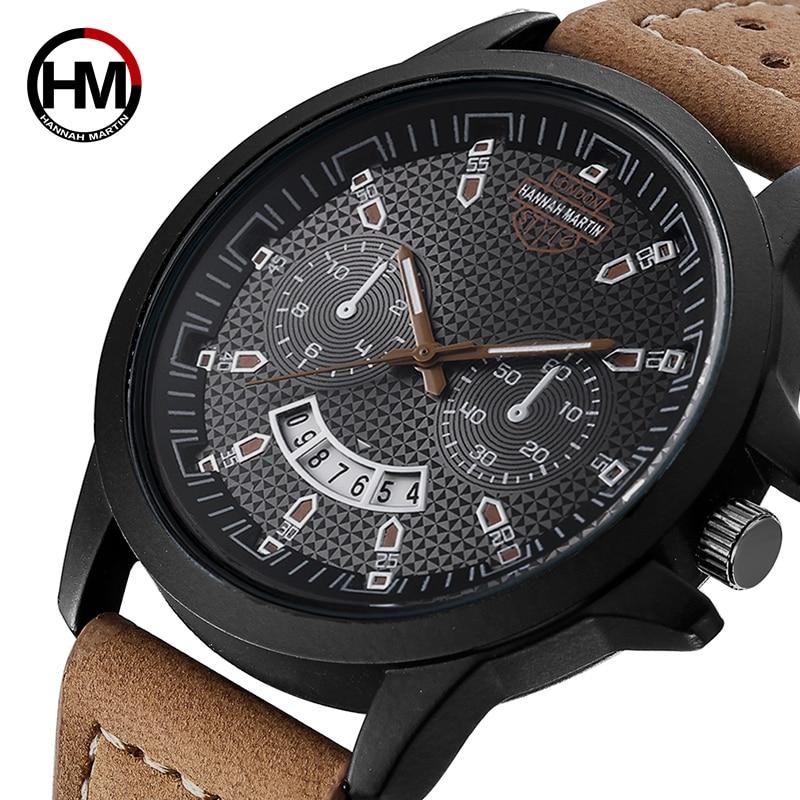 2019 Hannah Martin Sport Watch Men Watch Fashion Army Military Men's Watch Auto Date Waterproof Watches Clock Saat Reloj Hombre