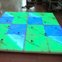 China Factory 10mmx720 RGB Wedding Sound to Light Activated Acrylic Lighted Led Dance Floor DMX Disco DJ Party Lights for Sale