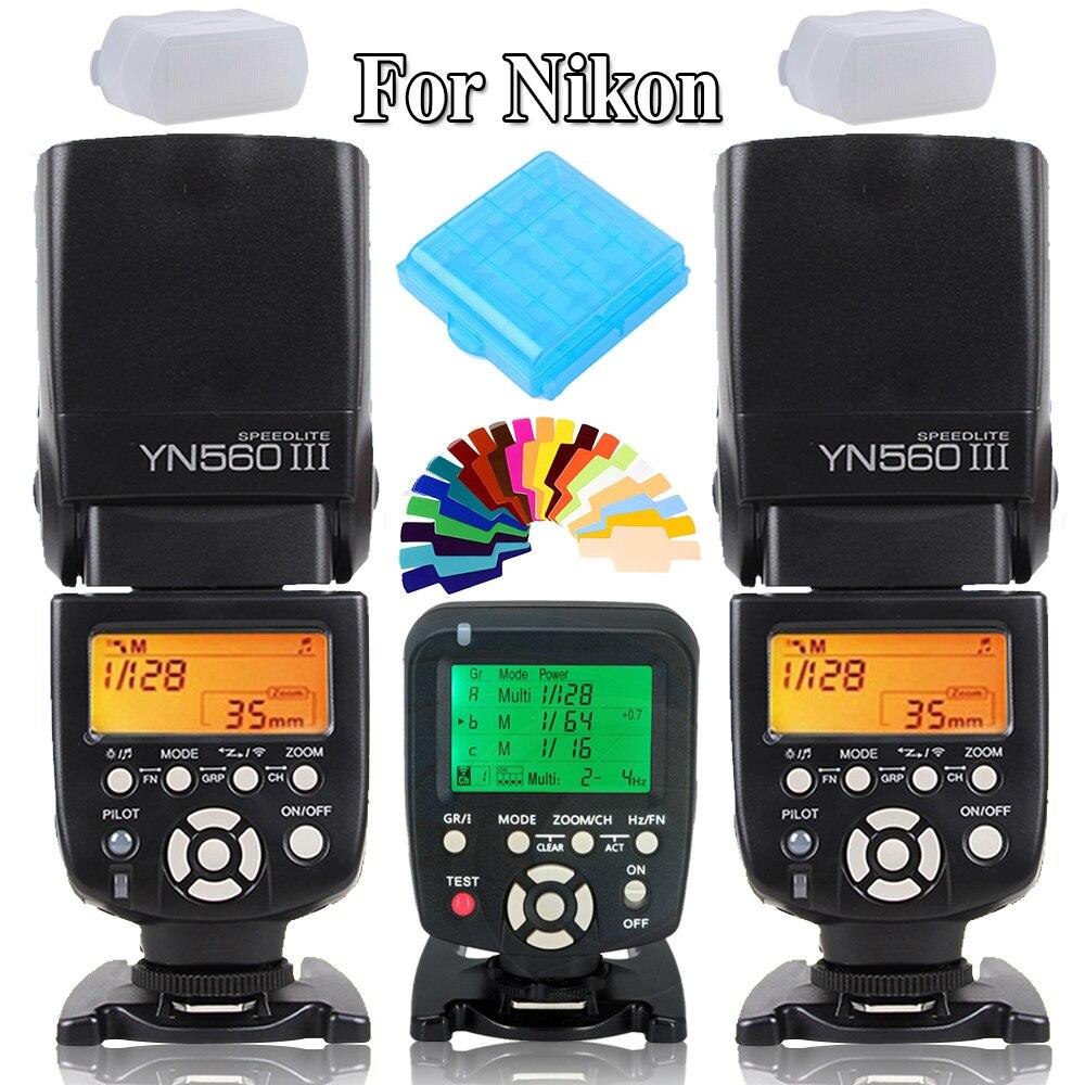 Yongnuo YN560III YN-560 III Sans Fil Flash Speedlite Vitesse Lumière X2 + YN560 TX Flash Trigger Contrôleur pour Nikon Appareils Photo REFLEX