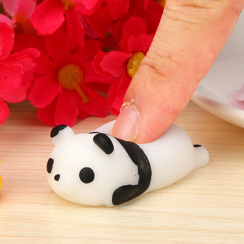 Cute Squishy Mini Small Mochi Squishy Panda Squeeze Healing Fun Kids Kawaii Toy Stress Reliever Decor Toy Gift Pendant
