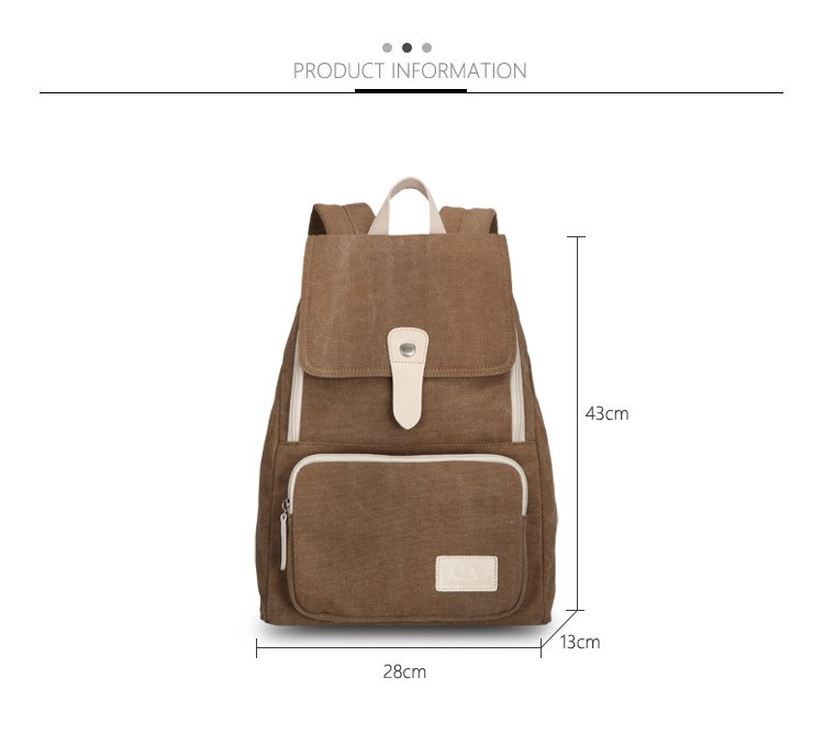 Canvasartisan top quality women canvas backpack new fashion style leisure female travel rucksuck backpacks various color 5