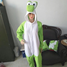 Adult Yoshi Onesies Pajamas Cartoon Pyjama Kigurumi Cosplay Costumes