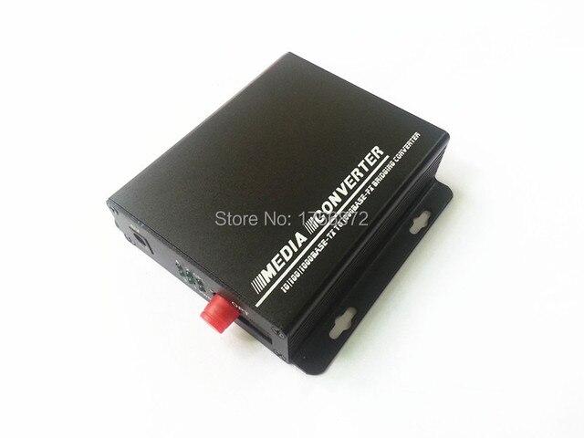 4 порт gigabit rj45 ethernet коммутатор 1 1000 мбит волокна sc одиночный режим одиночное волокно 25 км 5vDC металлический корпус настенный