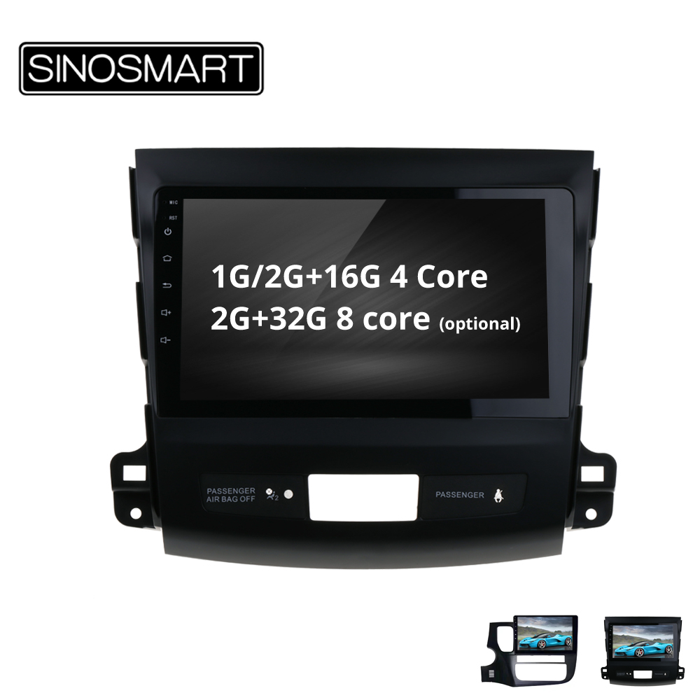 SINOSMART 4/8 core CPU, 2G RAM Android 8.1 Car GPS Navigation for Mitsubishi Outlander/Peugeot 4007/Citroen C Crosser-in Car Multimedia Player from Automobiles & Motorcycles