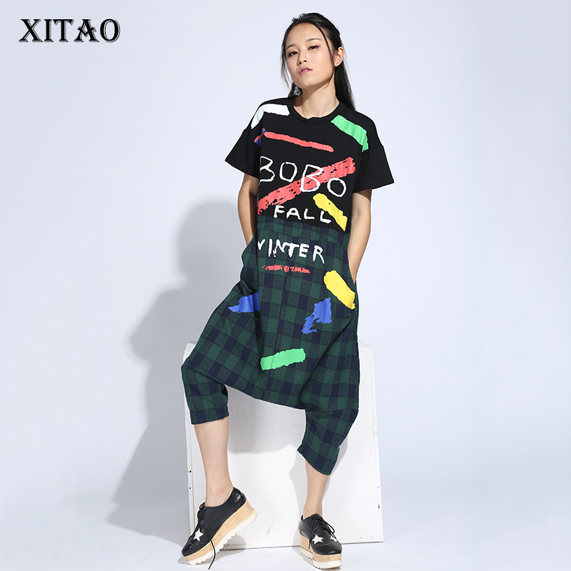 XITAO New Summer European Fashion Style Print Letters