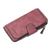New High Quality Wallet Women Big Capacity Three Fold Lady Purses Scrub Leather Female Wallets carteira feminina(China)