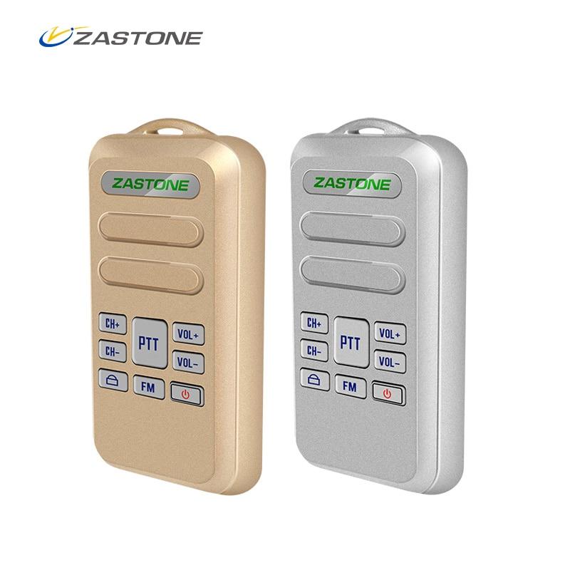2pcs/lot Mini Walkie Talkie ZASTONE Mini6 New Portable Walkie Talkie 2W 16CH 1000mAh UHF 400-470MHz Two-Way Radio HF Transceiver