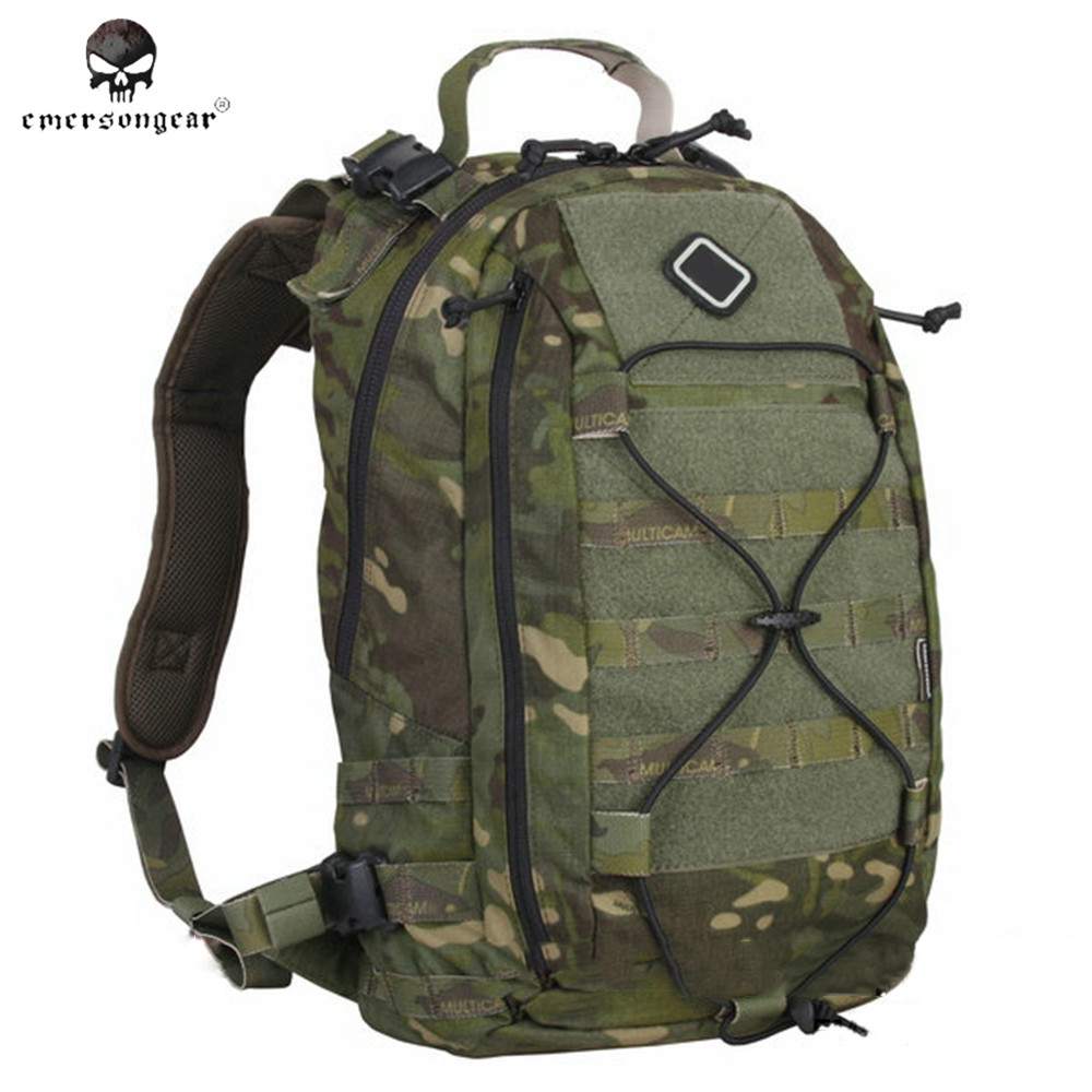 Emerson Outdoor Sport Tactical Airsoft Backpack Men 500D Nylon Molle Military Camouflage Hunting Bags Pack Women Equipment new arrival 38l military tactical backpack 500d molle rucksacks outdoor sport camping trekking bag backpacks cl5 0070