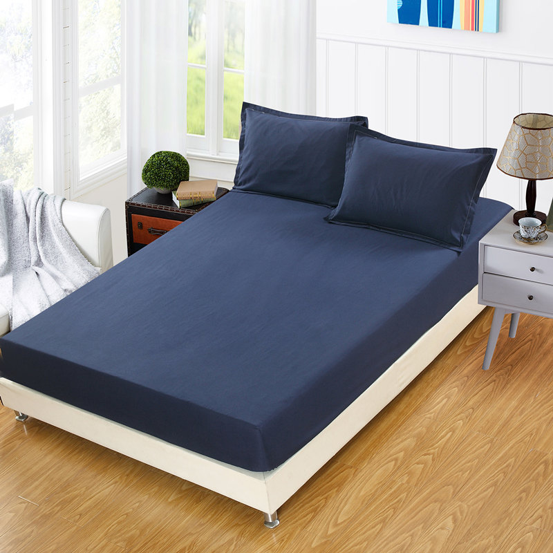 Futon 1pcs Deep 28cm Solid Color Ed Sheet Mattress Cover Bedding Linens Bed Sheets With Elastic Band Queen Size In From Home Garden On