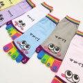 2016 New Arrival 6 Cores Bonito Meias Toe Moda Kawaii mulheres meias Meias Venda Quente Rosto Padrão Sorriso Engraçado SocksHOT VENDA