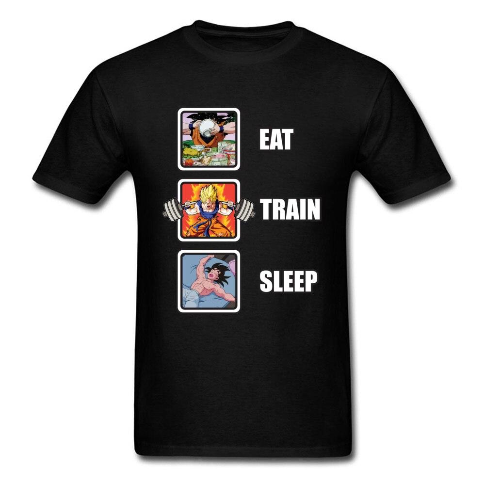 Dragon Ball T Shirt Ultra Instinct Goku Saiyan Eat Train Sleep 90's Anime Show Tshirt Mens Summer Funny T-Shirts Cotton
