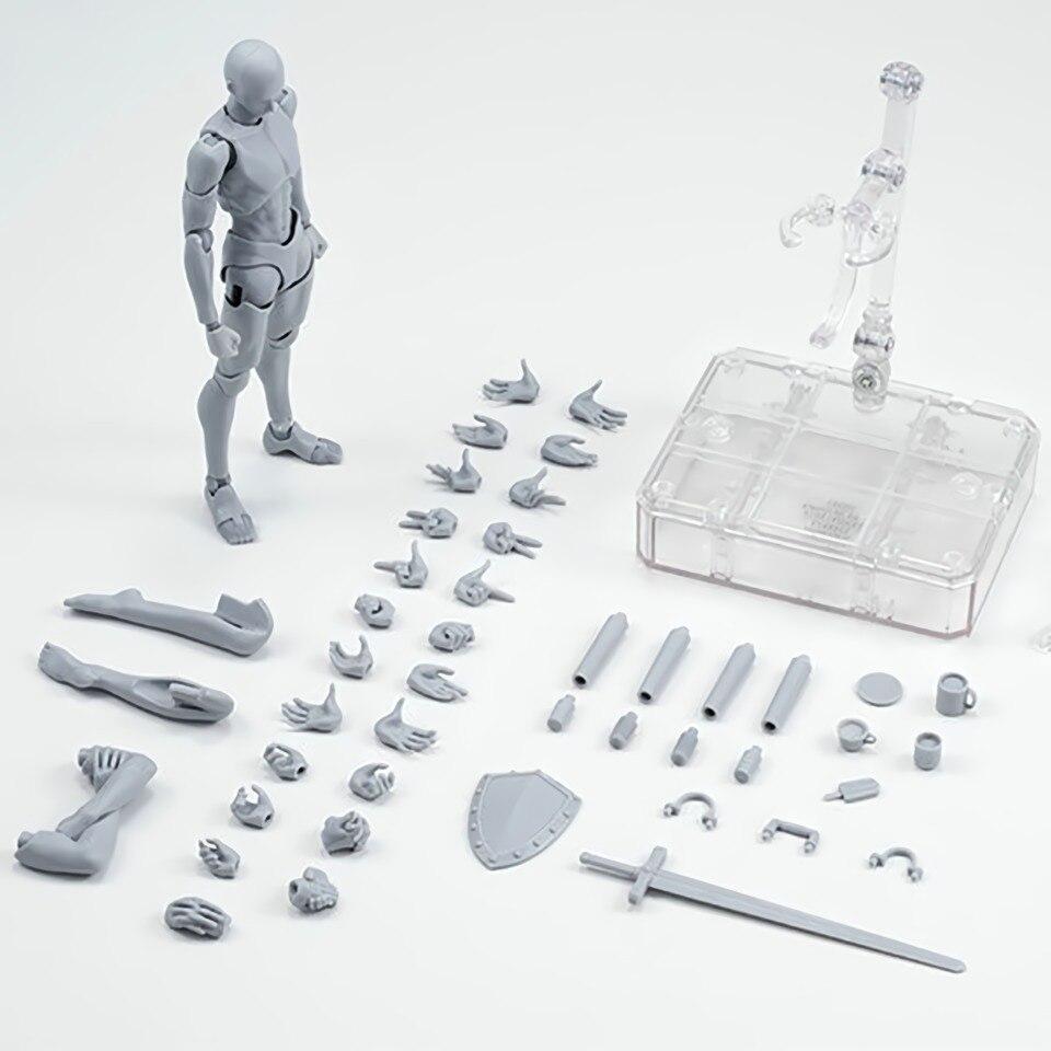 Tronzo Action Figure 2 Colors Movable SHF SHFiguarts Body Kun Body Chan PVC Figure Model Toys Figma DX Set Editon Dropship(China)