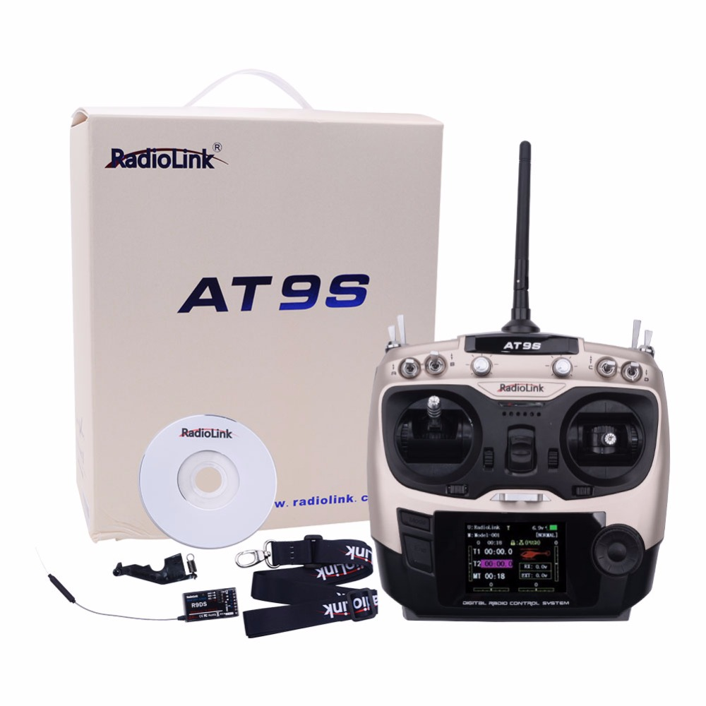 Radio AT9S 2.4GHz 10CH Remote Control AT9 Upgraded Version with R9DS Receiver DSSS FHSS Double Spread for RC Transmitter niorfnio portable 0 6w fm transmitter mp3 broadcast radio transmitter for car meeting tour guide y4409b