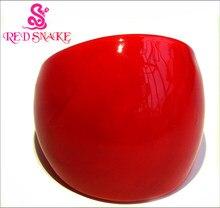 Anel de vidro vermelho da moda da cobra, feito à mão, pura, vermelho murano