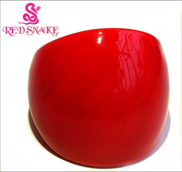 RED SNAKE Fashion Ring Handmade Pure Red Murano Glass Rings