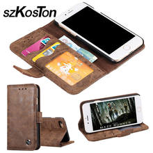 Real Genuine Leather Case For iPhone 6 6plus 6s 7 7plus Cell Phone Magnet Card Stand Flip Cover Mobile Phone Cases