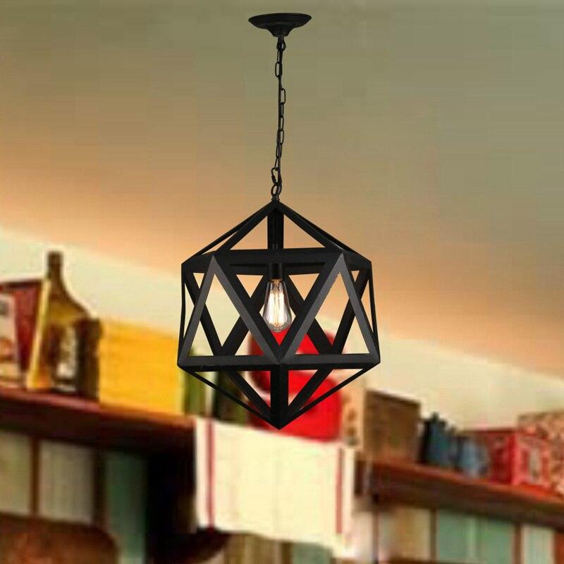 Negro Lámparas colgantes hierro forjado Iluminación Industrial ...