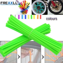 72Pcs/Pack Off-road Bike Wheel spoke skin Colorful Motocross Rims Skins Covers For KTM 400 450 525 SX EXC MXC XC XCw RMZ KXF